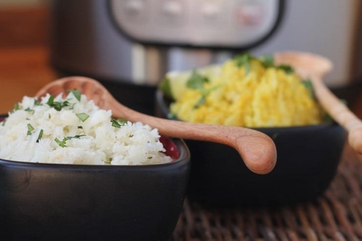 quick cauliflower rice in the Instant Pot