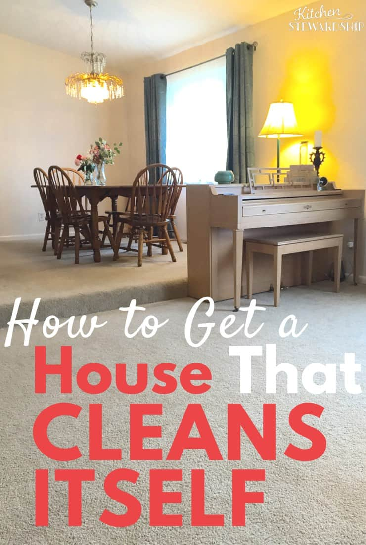 Are you drowning in chaos and clutter? Tired of your cleaning plans falling apart? Learn how to get to a point where your house can keep itself clean.