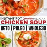Fast Smoky Mexican Chicken Soup
