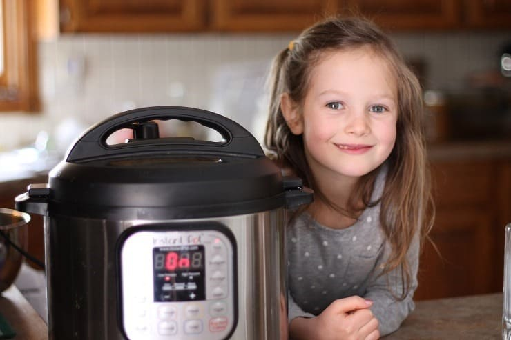 Leah and our new favorite kitchen tool - Instant Pot for the family