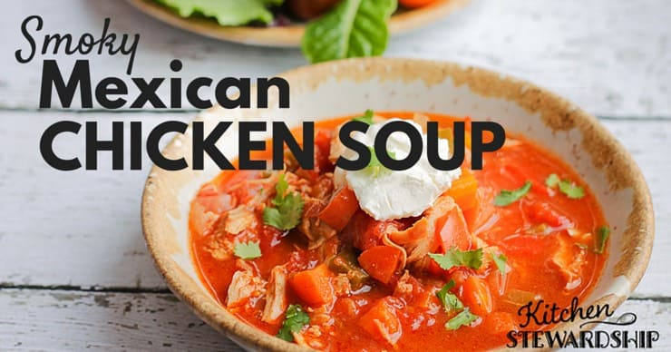 Smoky Mexican Chicken Soup in the Instant Pot or stovetop