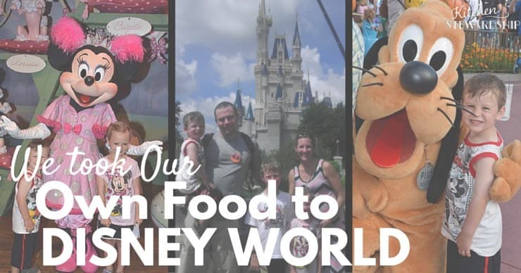 We took Our Own Food to Disney