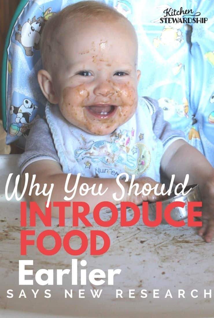Why You Should Introduce Food Earlier