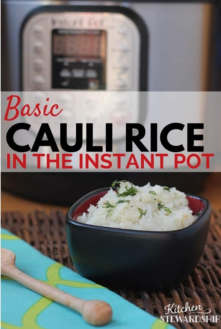 You CAN make Paleo cauliflower rice with your Instant Pot pressure cooker! Less chopping, NO food processor, and simple ingredients.