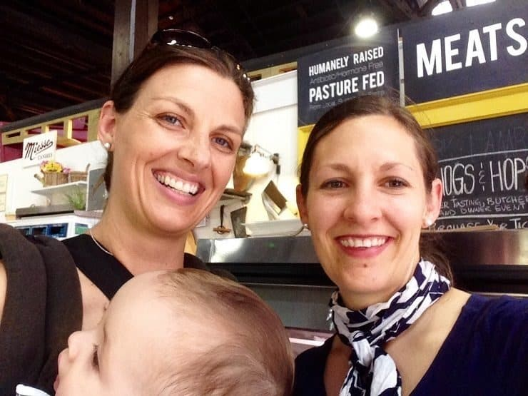 Selfie of Sarah and Katie at the Lancaster Farmers Market