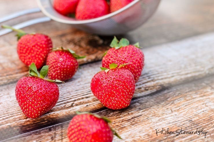 Strawberries - balanced sugar and fiber by nature