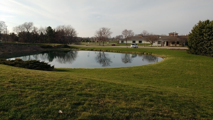 a man drove his car into this pond nine years ago and it was hidden in plain sight ever since