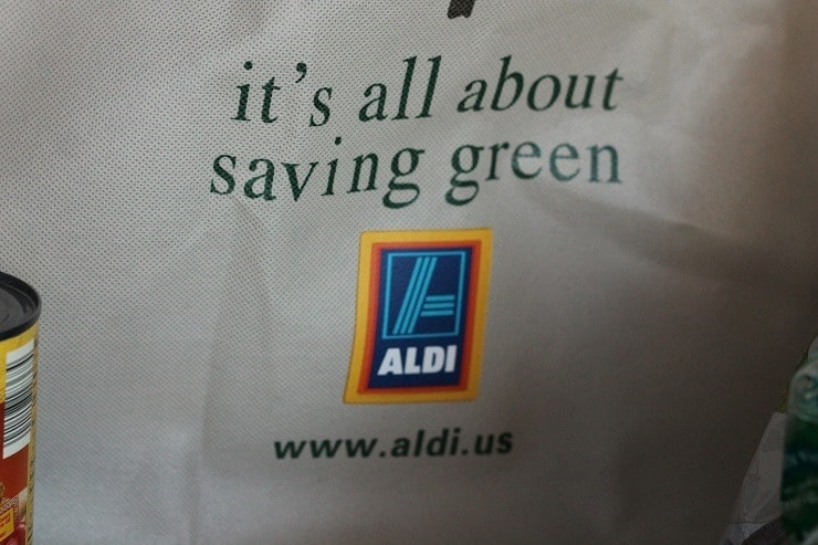 ALDI reusable bags its all about saving green