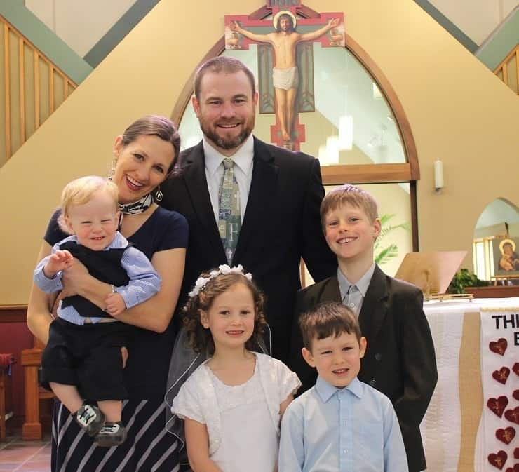 Family on First Communion Day