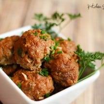 Easy Kid-Friendly Meatball Recipe {Egg Free, Grain Free}