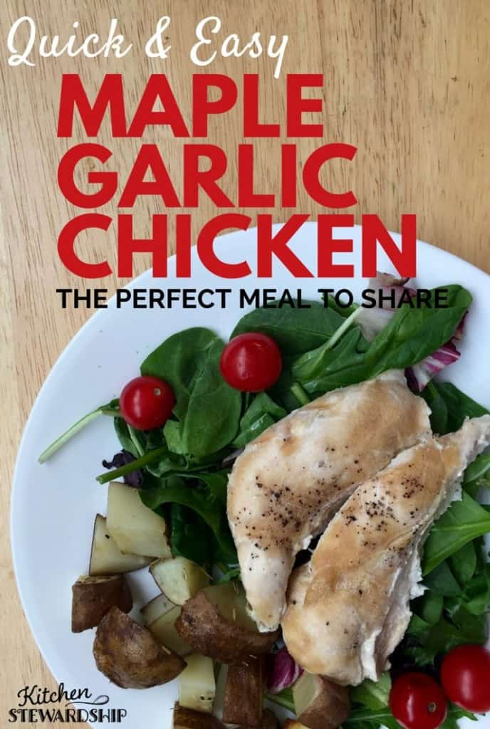 Maple Garlic Chicken Recipe Take and Bake