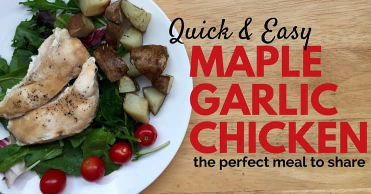 Maple Garlic Chicken Recipe for Facebook