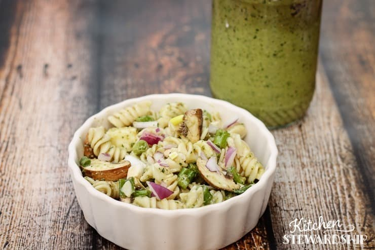 Pasta Salad with Magic Green Sauce