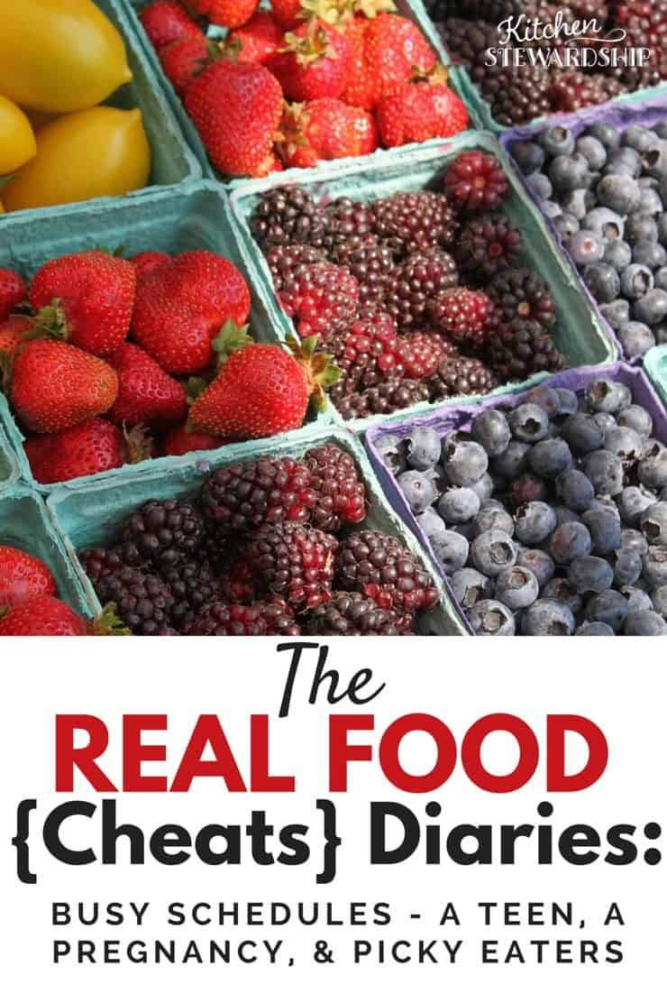 Well...at least Mom eats real food! The final Real Food Diary profiles a busy pregnant mama with a teenager and a picky husband. Find out how she fares!