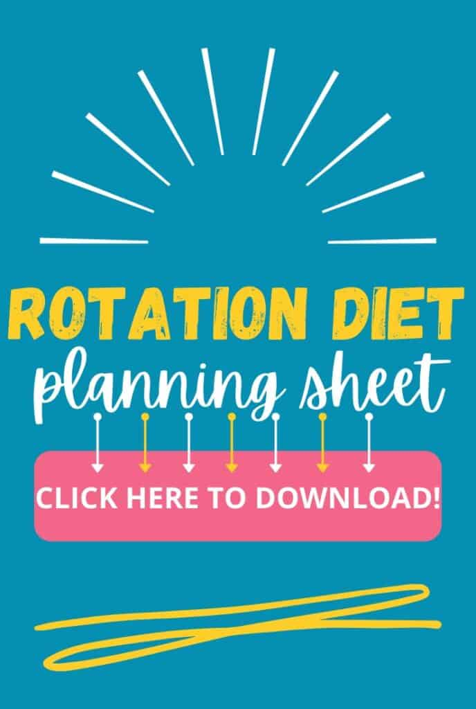 Rotation Diet Planning Sheet