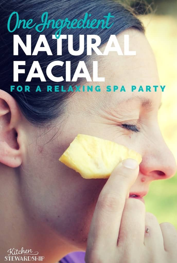 Easy One Ingredient Natural Facial