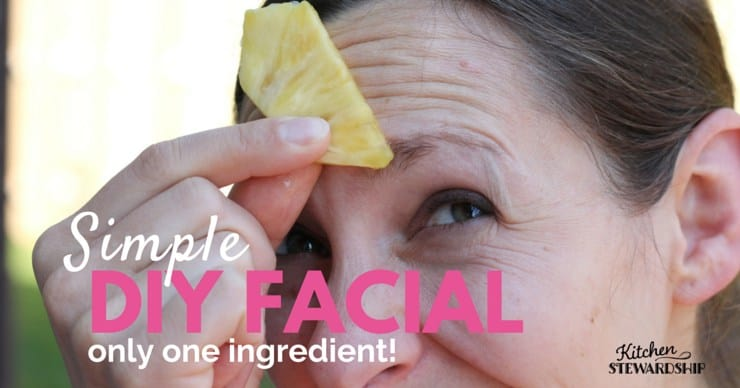 single ingredient facial