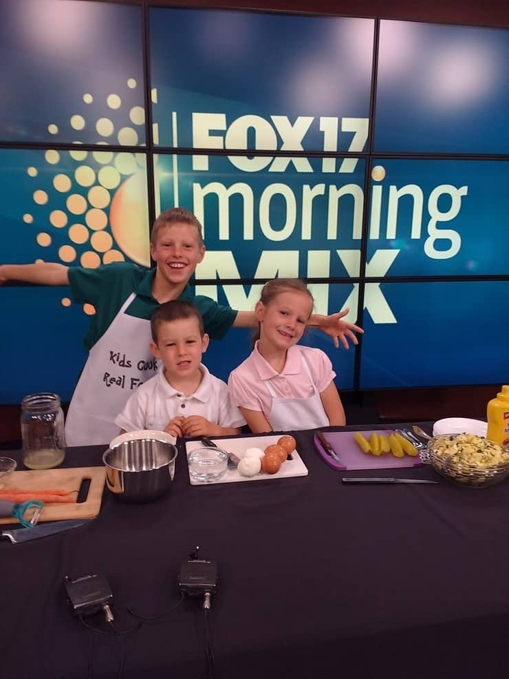 Kids Cook Real Food Shows Easy and Healthy Camping and Picnic Recipes on the set of Fox News M
