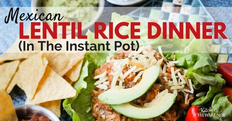 Mexican lentil rice dinner (in the Instant Pot)