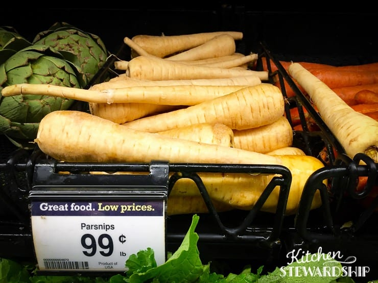 Parsnips in the grocery store