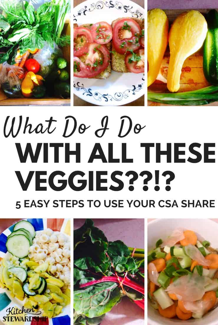 How to Use a Week's Share of CSA Vegetables - sort, preserve, meal plan, recipes, and more!