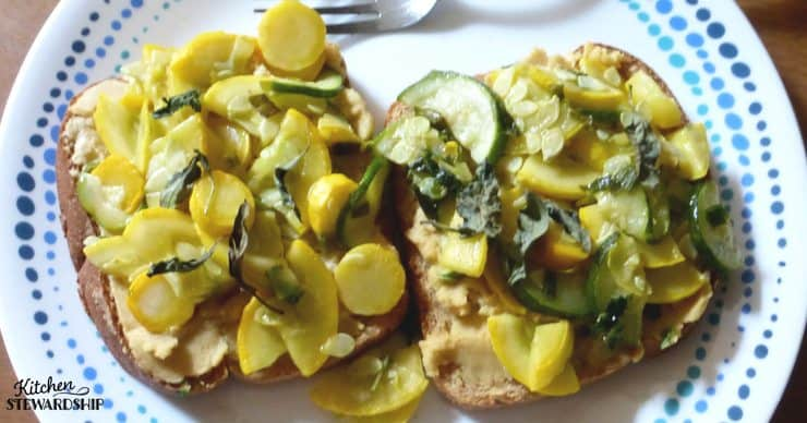5 Easy Steps for Using a Week's Share of CSA Vegetables - leftover hummus on toast