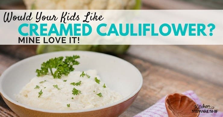 Creamed Cauliflower - healthy substitute for mashed potatoes