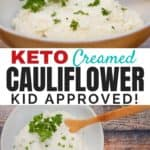 Healthy Creamed Cauliflower (the Mashed Potatoes Trick): Want to include more low-carb, healthy veggies in your meals instead of heavy mashed potatoes? Cook cauliflower as a healthy substitute!
