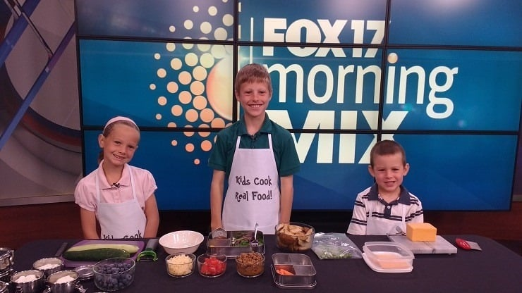 Fox News Morning Mix talking about healthy lunch packing