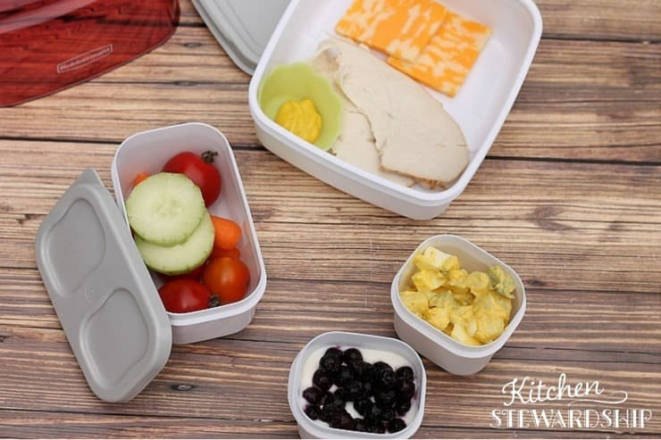 Choose the right bento box for you - this one has too many pieces for our family