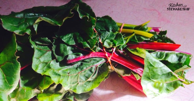 Rainbow chard from the CSA box - use it all up