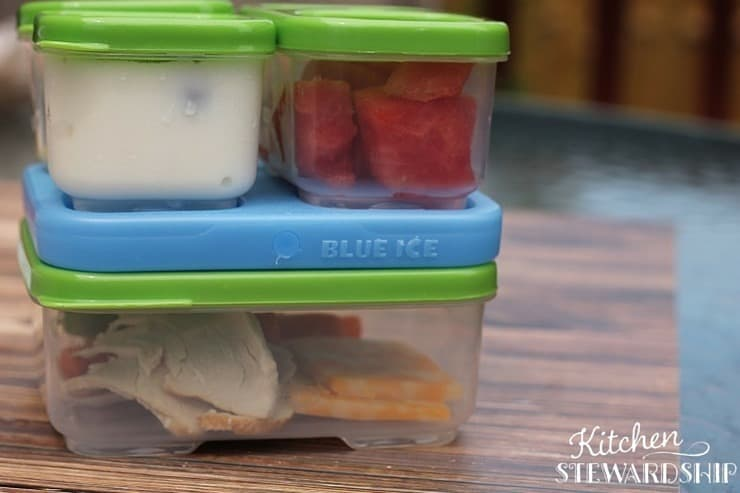 Plastic bento box from Rubbermaid - not bad, but not our favorite