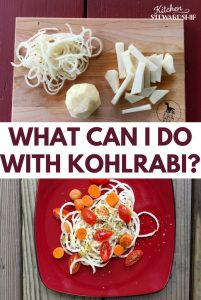 New vegetable to try & it works great in the spiralizer! ... Kohlrabi