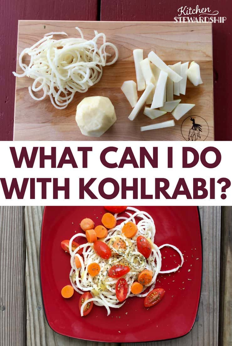 how to clean and prepare kohlrabi