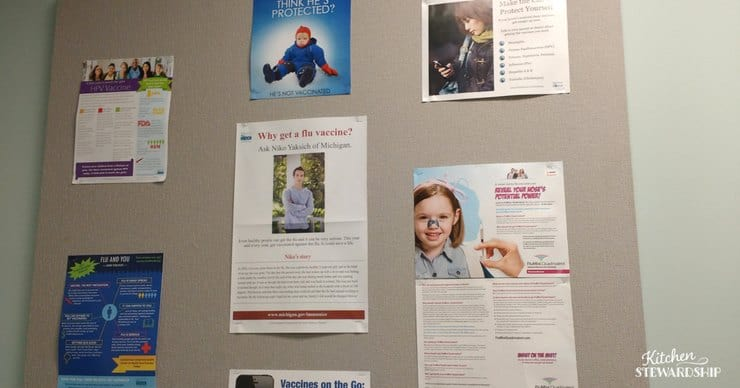 vaccine posters are everywhere at the health department