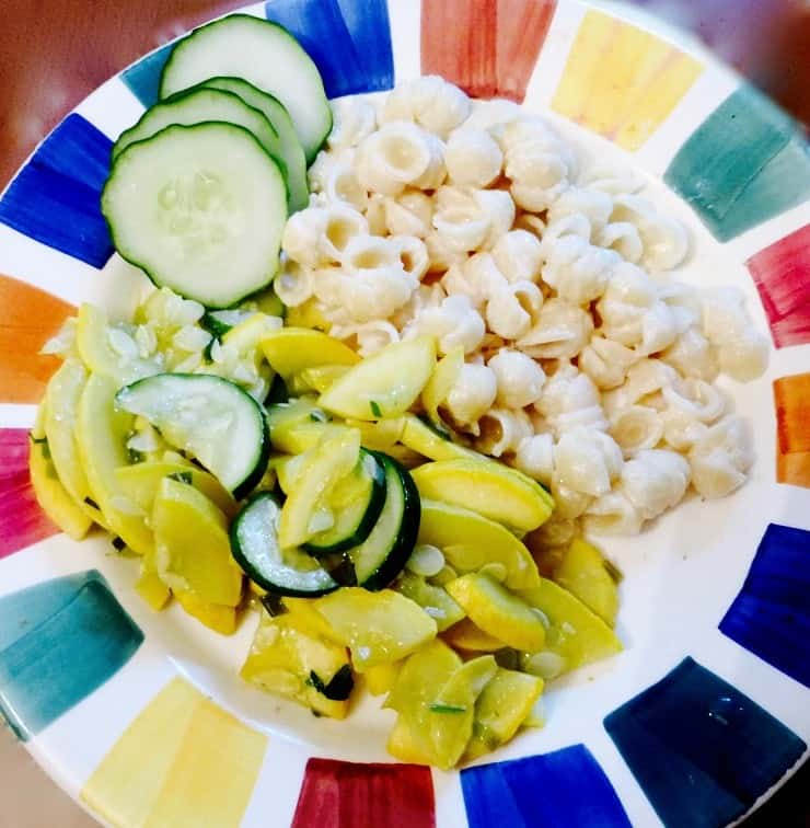 macaroni and cheese with squash - one way to use up CSA produce