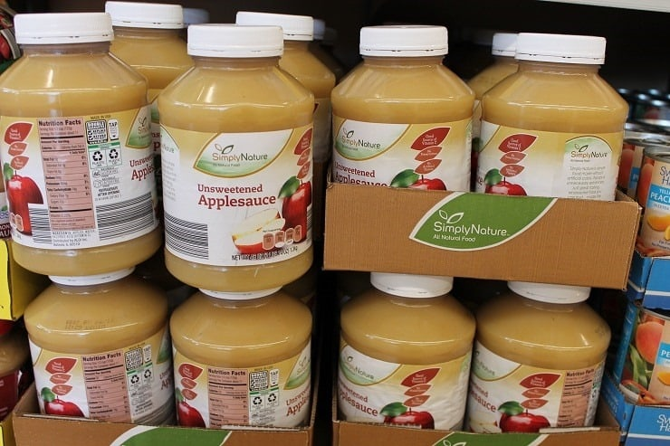 ALDI SimplyNature organic unsweetened applesauce