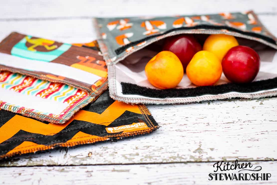 durable reusable bags from EcoBagIt with mini plums inside