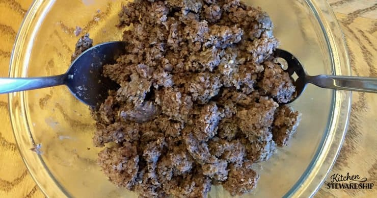 Ground Beef cooked in the Instant Pot - from frozen!