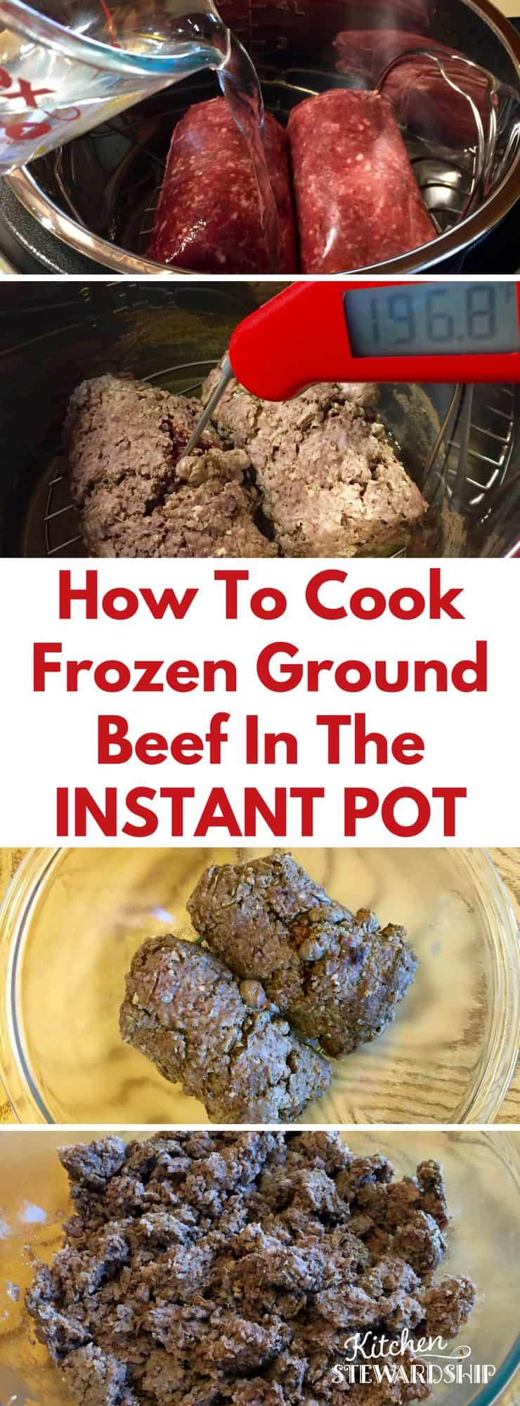 Forgot To Thaw Your Frozen Ground Beef? Never Fear! The Instant Pot Is  Here Instant Pot Brown Rice How To Cook