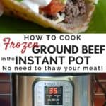 Ground beef taco and an Instant Pot