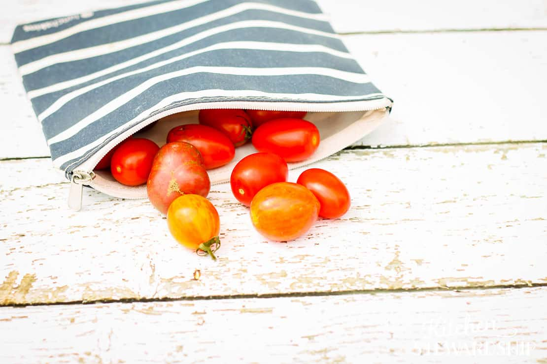 Lunchskins zippered bag wtih cherry tomatoes