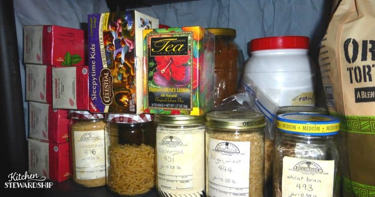 Keep an organized stocked pantry for simple meal planning