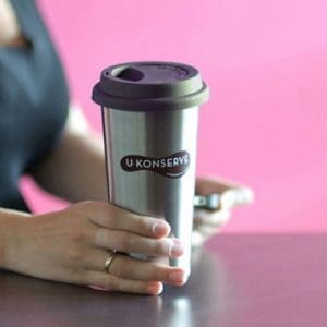 Only $5 for this Stainless Steel mug from Mighty Fix - stop using disposable cups