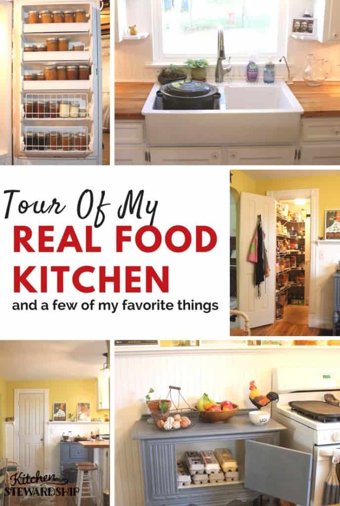 Tour of my real food kitchen