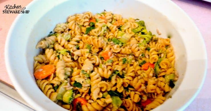 4 basic sauces to make without a recipe - herb olive oil make a delicious pasta salad