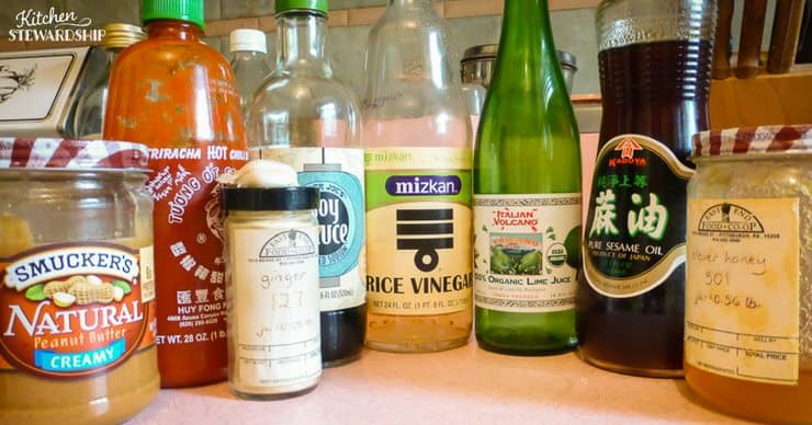 4 basic sauces to make without a recipe - thai peanut sauce delicious on its own or in a stir fry!