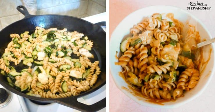 4 basic sauces to make without a recipe - thai peanut sauce makes a quick veggie pasta stir fry