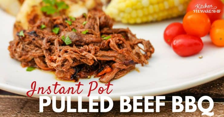 Instant Pot Keto Pulled Beef BBQ