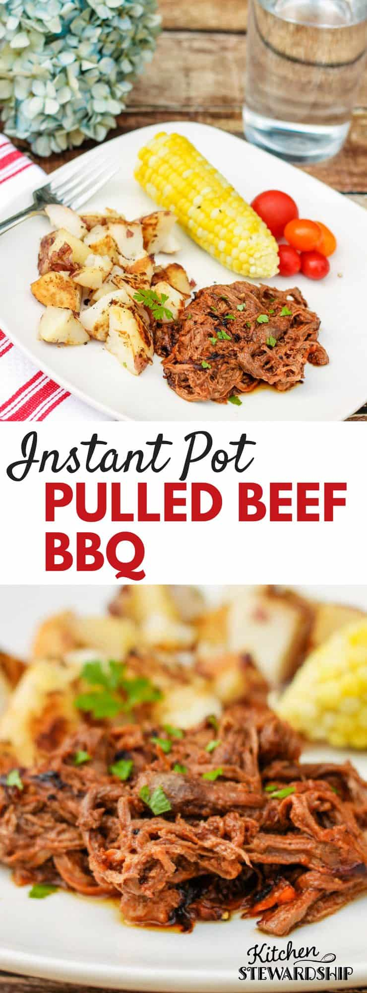 Instant Pot Pulled Beef BBQ